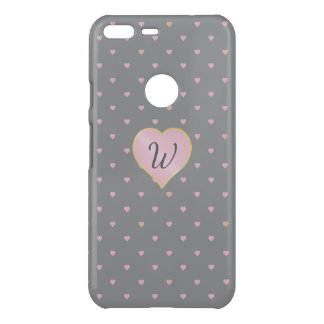 Stars Within Hearts on Gray Uncommon Phone Case