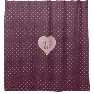 Stars Within Hearts on Port Shower Curtain