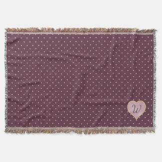 Stars Within Hearts on Port Throw Blanket
