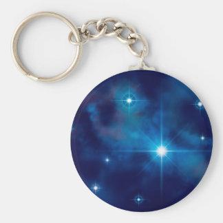 Starscape 3 basic round button keychain