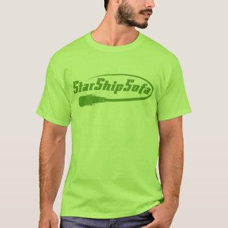 StarShipSofa Text Green on Lime T-Shirt