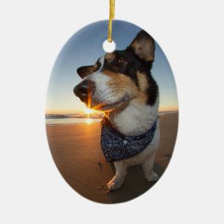 StarStruck at the Beach Ceramic Oval Ornament