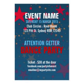 Starstruck Mega Stars Event Party Mini Flyers Business Card