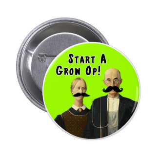 Start a Grow Op Moustache Button