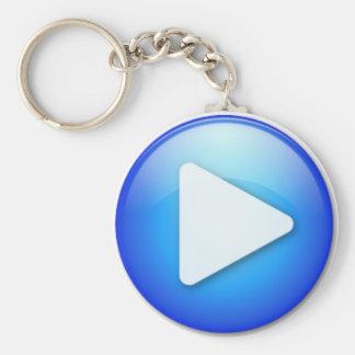 start basic round button keychain