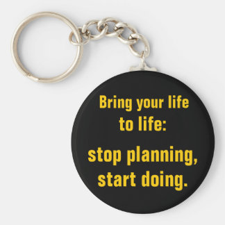 Start Doing Basic Round Button Keychain