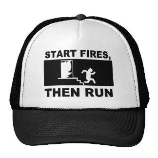 Start Fires Then Run Trucker Hat