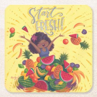 Start Fresh! Square Paper Coaster