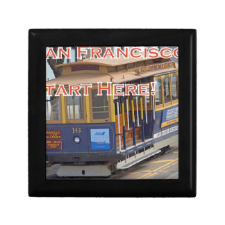 Start Here! San Francisco Cable Cars Trolley Cars Gift Box