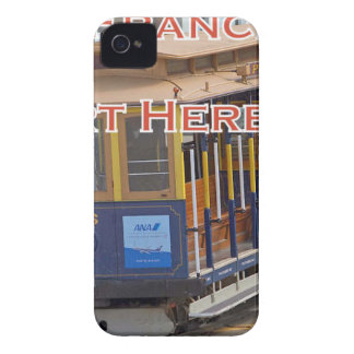 Start Here! San Francisco Cable Cars Trolley Cars iPhone 4 Case-Mate Cases