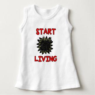 """""""Start Living"""" Baby Sleeveless Dress"""