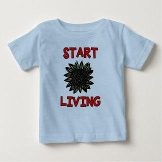 """Start Living"" Baby T-Shirt"