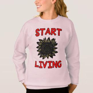 """""""Start Living"""" Girls' Sweatshirt"""