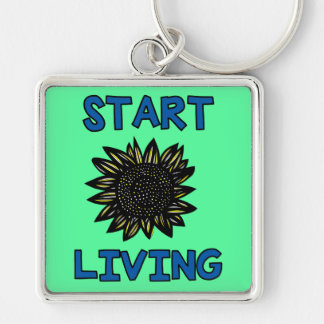 """Start Living"" Premium Keychain"