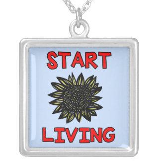 """Start Living"" Sterling Silver Necklace"