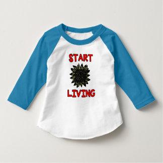 """Start Living"" Toddler 3/4 Sleeve Raglan T-Shirt"