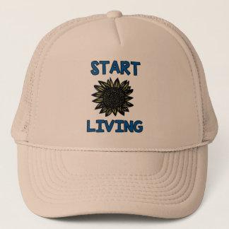 """""""Start Living"""" Trucker Hat"""