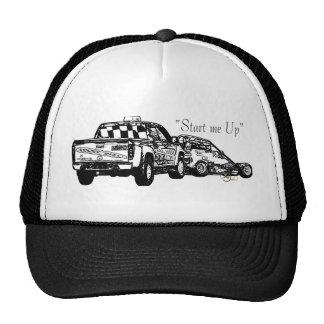 Start me up sketch black trucker hat