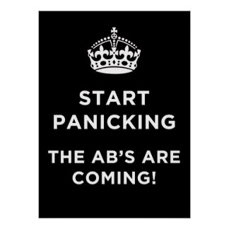 Start Panicking - AB's Rugby Poster