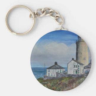 Start Point Lighthouse Basic Round Button Keychain