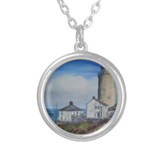 Start Point Lighthouse Silver Plated Necklace