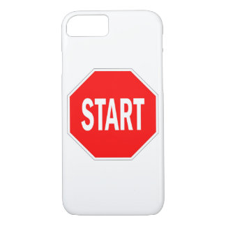 start road traffic sign symbol stop iPhone 8/7 case
