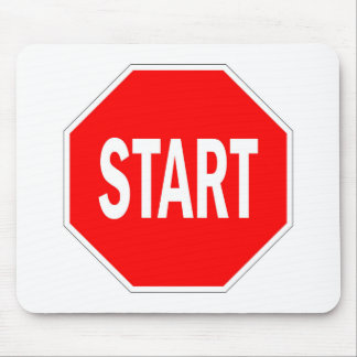 start road traffic sign symbol stop mouse pad