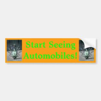 """""""Start Seeing Automobiles"""" bumper sticker"""