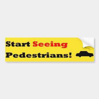 Start Seeing Pedestrians!! Bumper Sticker