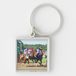 Start Singing Silver-Colored Square Keychain
