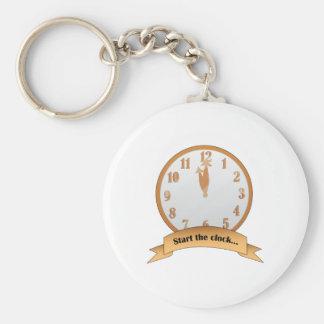 Start The Clock Key Chain