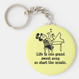 Start The Music Keychain