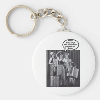 Start the Party! The Accordion Players Are Here Basic Round Button Keychain