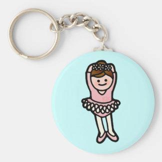 start the show. basic round button keychain