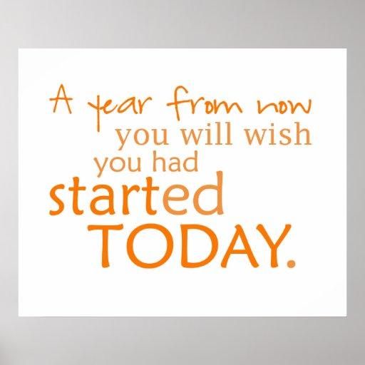 Start Today Motivational  Poster