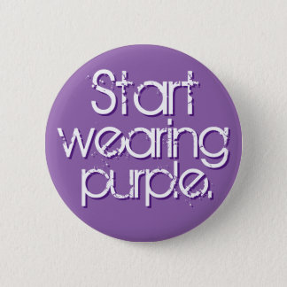 Start Wearing Purple 2 Inch Round Button