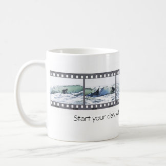 Start your day with a wave--go surfing! coffee mug