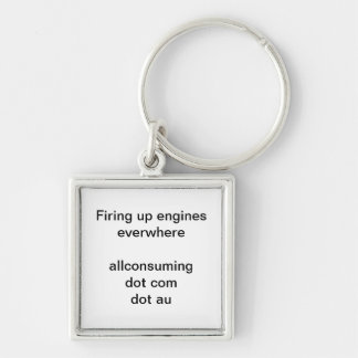 Start your engines Silver-Colored square keychain