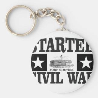 started the civil war fs basic round button keychain