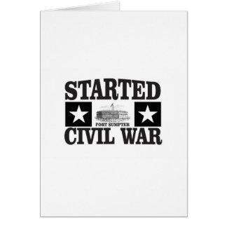 started the civil war fs card