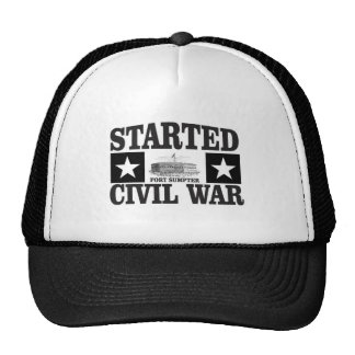 started the civil war fs trucker hat