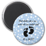 Started With A Kiss Wish Blue Custom Refrigerator Magnet