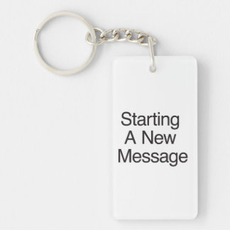 Starting A New Message ai Acrylic Keychains