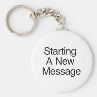 Starting A New Message Key Chain