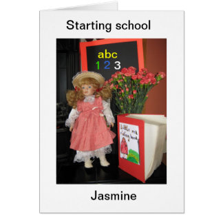 starting school Jasmine Greeting Card