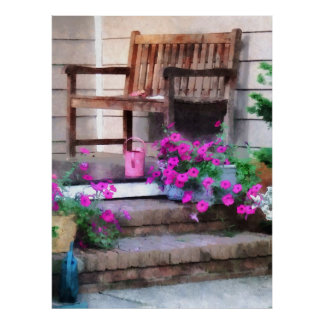 STARTING UNDER $20 Pink Petunias and Watering Cans Poster