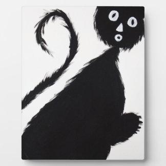 Startled Cat Plaque