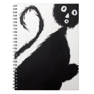 Startled Cat Spiral Notebook