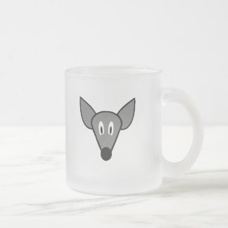 Startled mouse rat face frosted glass coffee mug
