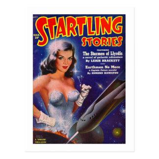 Startling Stories March - Vintage SciFi Comic Postcard
